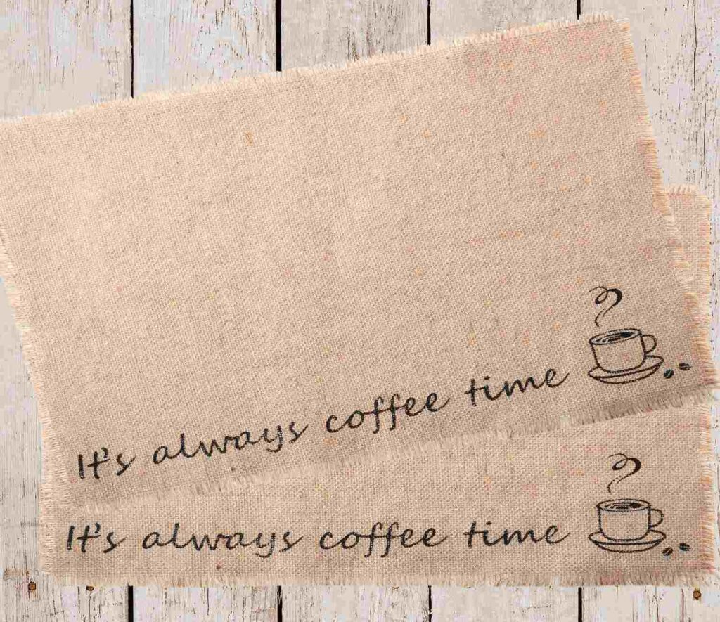 2 Pieces Coffee Placemat Coffee Bar